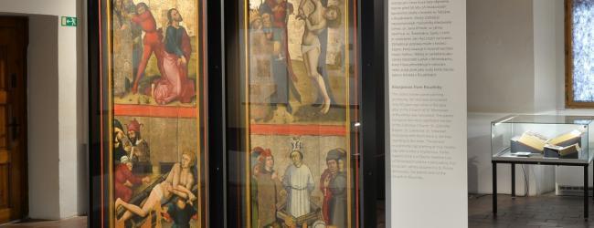 Oltářní křídla z Roudník na výstavě Jan Hus 1415/2015